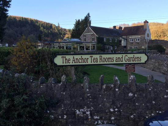 The Anchor Tintern: View from there car park next to the abbey