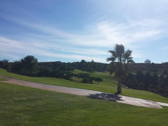 Alhaurín Golf Club: View from the practise area onto the golf course