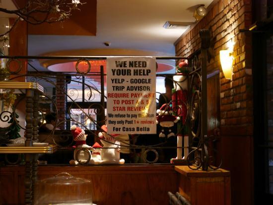 Casa Bella Restaurant: Onzin natuurlijk!