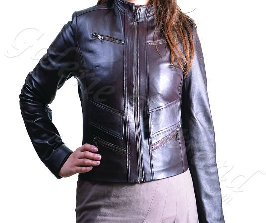 Veste cuir pour femme