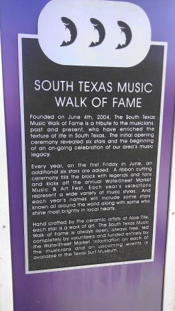‪South Texas Music Walk of Fame‬