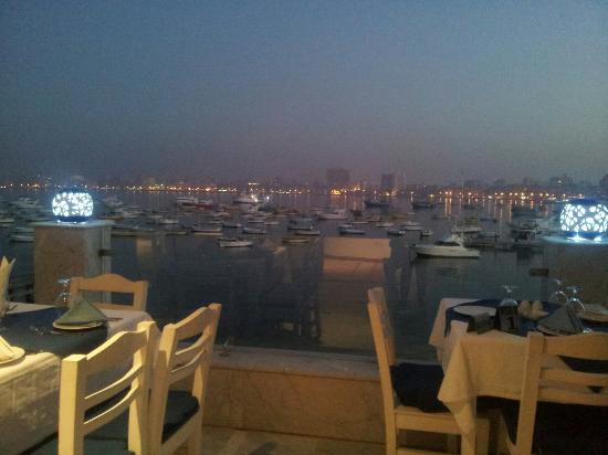White and Blue Restaurant: Right after sunset