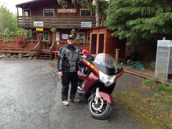 Alaska Dacha: Yap, motorcycled there.