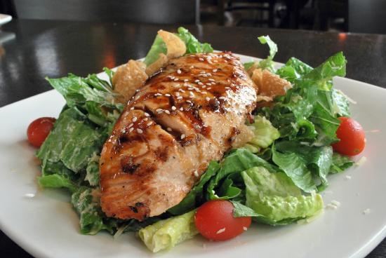 Fat's Asia Bistro - Folsom : Salmon Teriyaki Caesar Salad