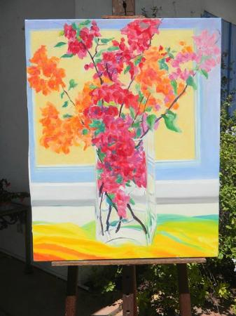 Roland Richardson Art Gallery: One of the beautiful painting we purchased!