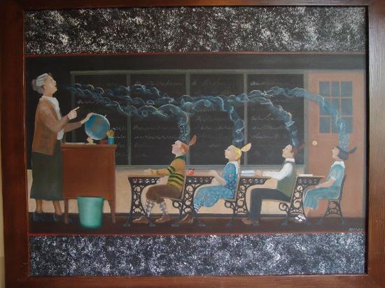 McMenamins Kennedy School: Hall painting