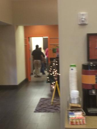 Hampton Inn & Suites Albuquerque North/I-25: Staff performing 8 AM Cha Cha Slide