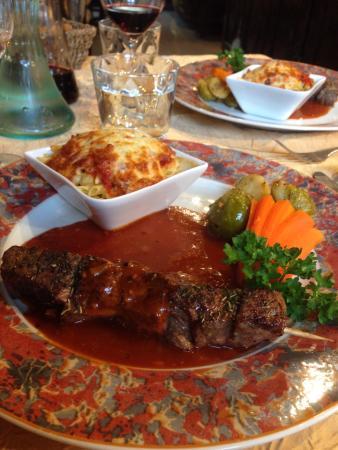 Restaurant La Hulotte Au Lion D'or : Brochette de bœuf