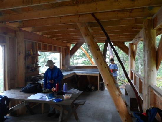 The Sunshine Coast Trail - Day Tours: Manzanita Hut inside