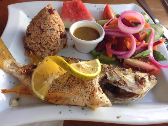 Rose's Grill & Bar: Fresh whole grilled snapper. Great deal and delicious.