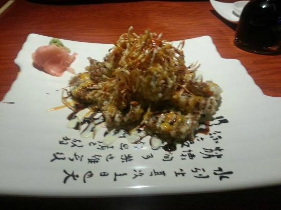 Oba Contemporary Japanese: The volcano spicy tuna roll. my crappy cell phone camera does not do it justice.