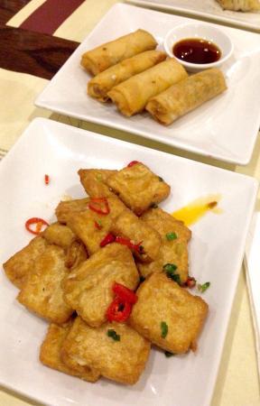Umami: Tofu & spring roll starters