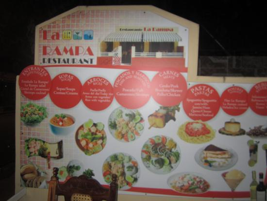 La Rampa: Some dishes