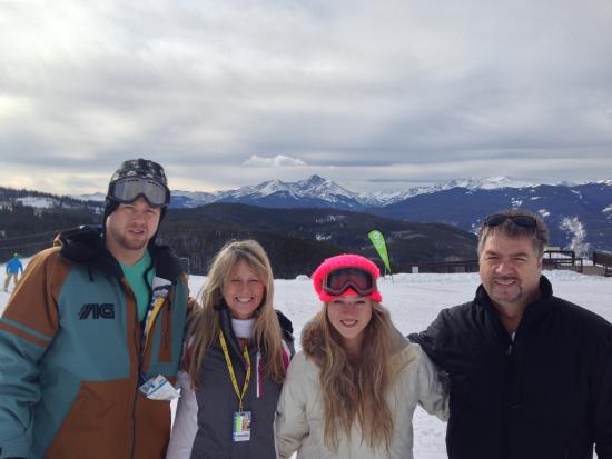 Lion Square Lodge: My family at top of gondola
