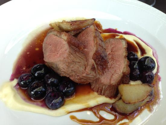 Petit Louis Bistro: Duck breast with blueberry preserve & beurre blanc