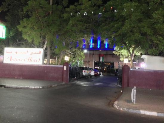 Outside Astoria Hotel, Dubai