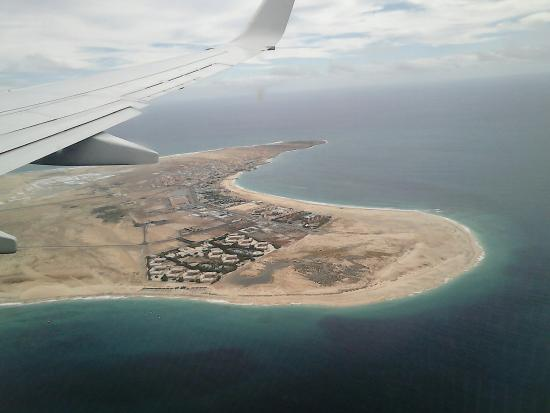 Praia de Santa Maria: Santa-Maria, Sal, from the skies.,.