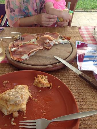 L'Osteria Samui : Это часть лазаньи и пиццы.