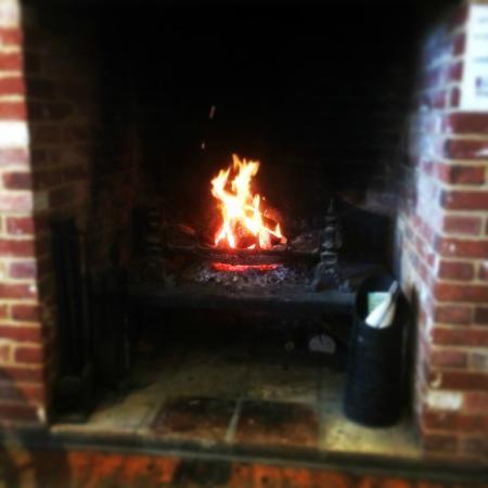 Wine vaults Log fire