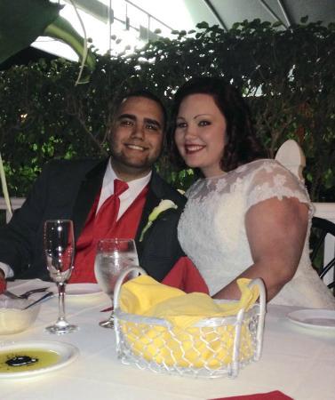 Arturo's Italian Restaurant: The Bride and Groom at Arturo's Wedding Reception