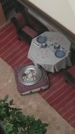 Riad du Ciel : prima colazione