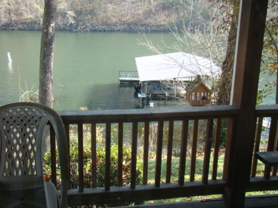 Lazy Valley Resort: View from condo's private deck