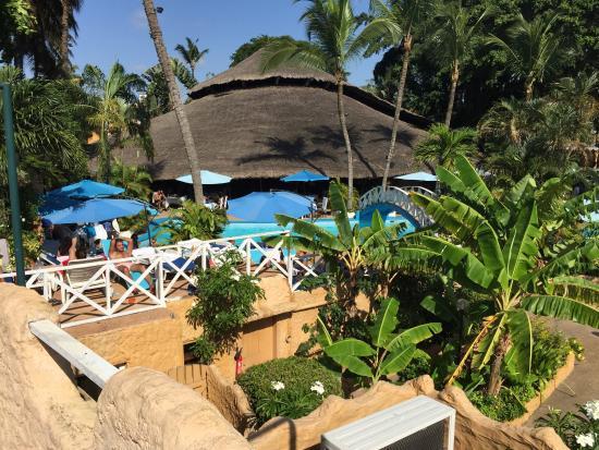 Hotel le Wafou: Hotel from the sunbathing platform
