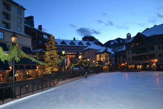 St. James Place: ice skating and village