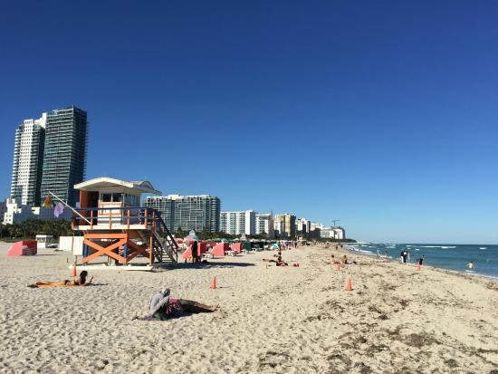 Kimpton Surfcomber Hotel: This stretch of South Beach has a very wide beach