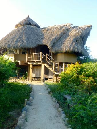 Playa Viva: Studio room on the right with bathroom underneath