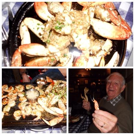 The Old Clam House: Pure Pleasure! Fresh Roasted Crab!