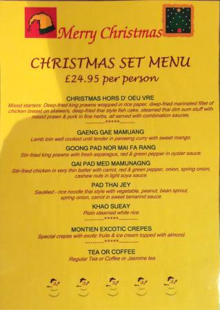 Welcome House Thai Cuisine: Christmas Set Menu 2014