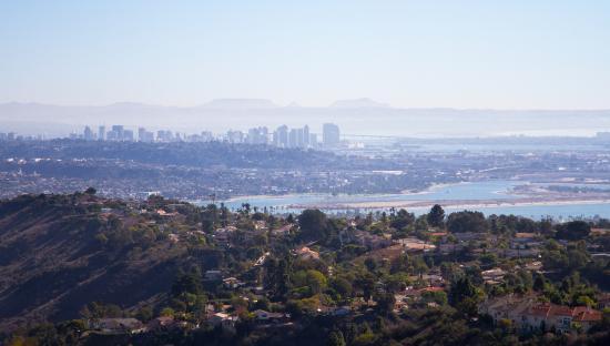 Coastal San Diego Tours to La Jolla & Torrey Pines with TourGuideTim: View of San Diego from Mt. Soledad