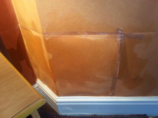 Best Western Carlton Hotel : Wallpaper sellotaped over damp patches