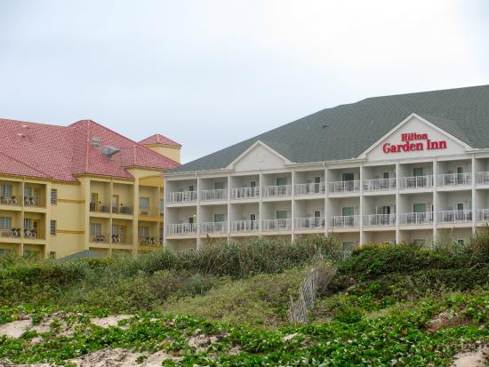 hilton garden inn south padre island beach view of the hilton garden inn from the - Hilton Garden Inn South Padre