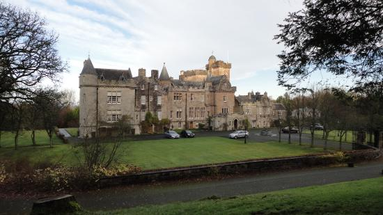 Glenapp Castle: View from the front garden