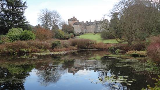 Glenapp Castle: View from the rear garden