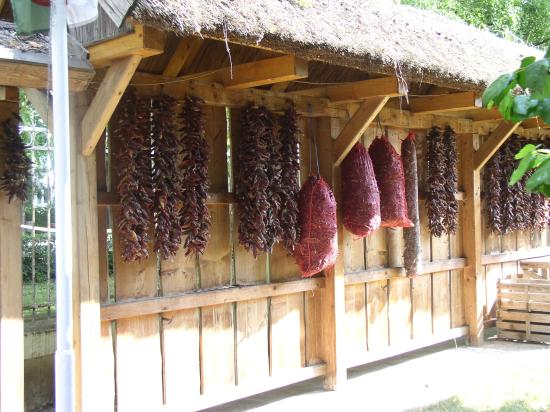 Kalocsa, Hungary: Paprika peppers drying station