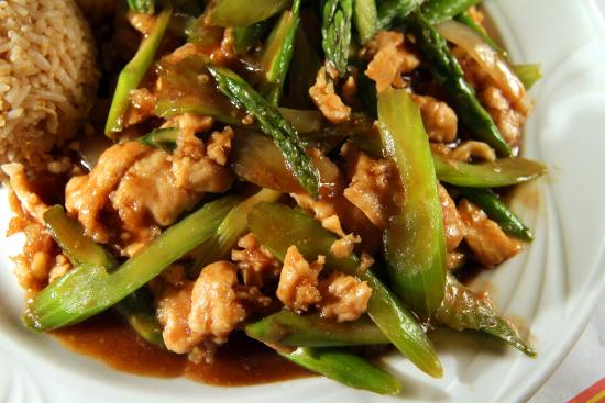 Asparagus Chicken Jimy Wens Voted Best Chinese Food In The San