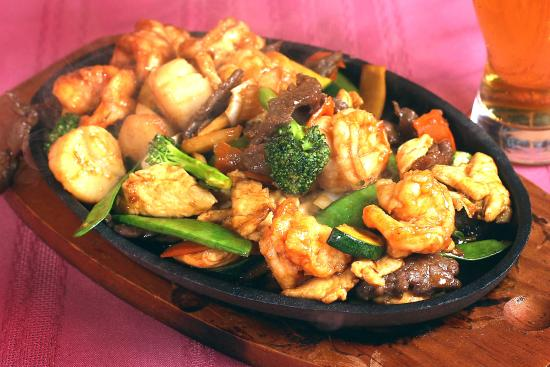 Sizzling Combination Platter Jimy Wens Voted Best Chinese Food In