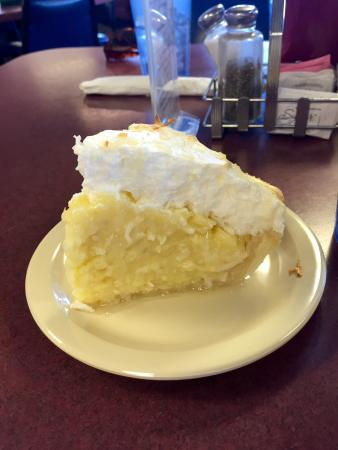 Falmouth, Μίσιγκαν: Coconut cream pie - totally HOMEMADE from scratch.