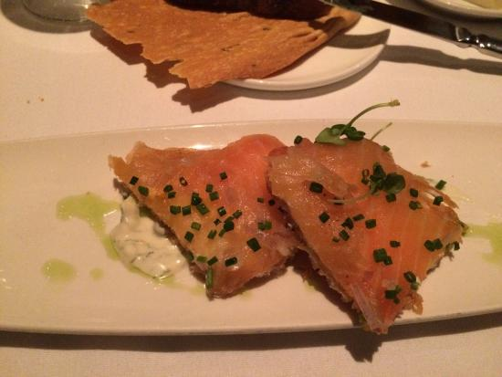 House smoked salmon...MUST order!