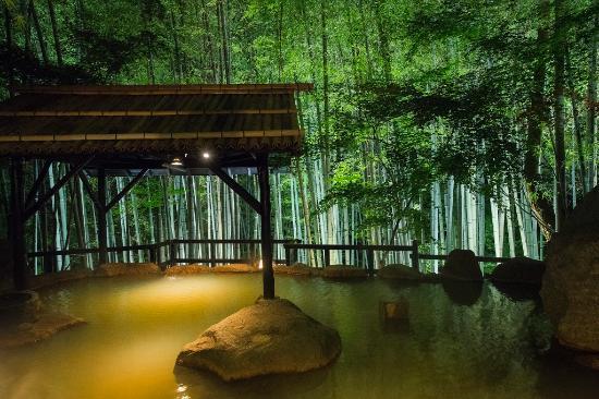 Takefue: 竹林の湯(夜景)