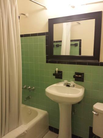 Parkway Inn Airport Motel: Banheiro com cabelos - a água pelo menos era quente