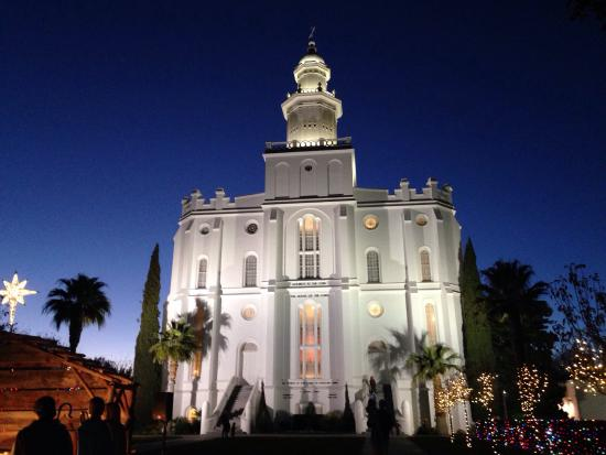 St. George Temple: Pretty in daylight, but absolutely lovely at night.