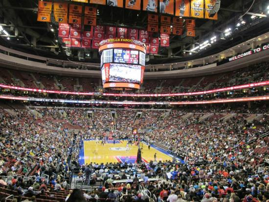 inside the stadium picture of wells fargo center philadelphia