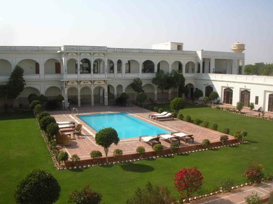 Indra Vilas: Interior Courtyard and Pool