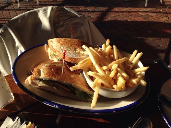 The Porch: Chicken BLTA - wish we got the fresh fried potato chips...they looked awesome