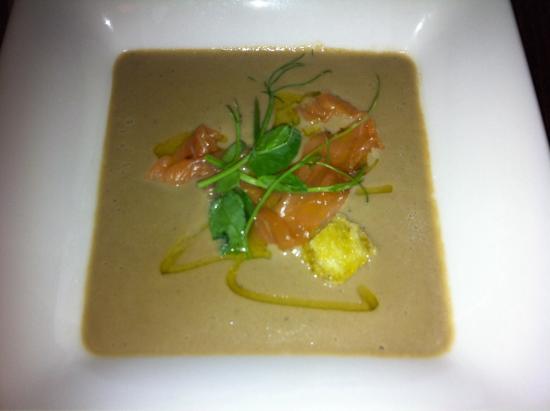 Goodfellows: Porcini & Smoked Salmon Soup