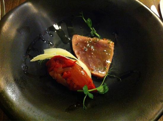 Goodfellows: Seared Tuna with Peperonata